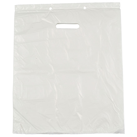 Blokbærepose, HDPE, hvid, 18 my, 37,50x43 cm, 13 l,