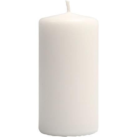 Bloklys hvid, Højde 10 cm, diameter 50 mm | 6 stk