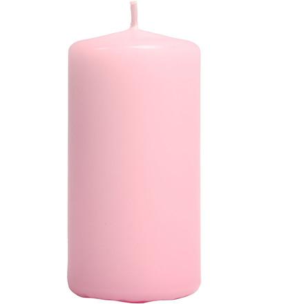 Bloklys, diam. 50 mm, H: 10 cm, rosa, 6stk.