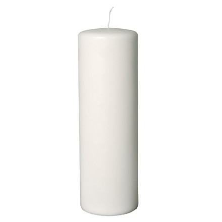 Bloklys hvid 9,6 x 30 cm 230 timer - 6 stk