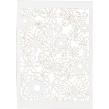 Blondekarton, hvid, ark 10,5x15 cm, 200 g, 10stk.
