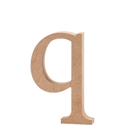 Bogstav, H: 12,2 cm, tykkelse 2 cm, MDF, q, 1stk.