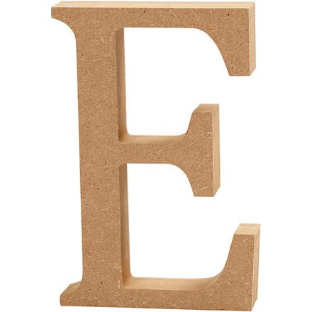 Bogstav højde 8 cm tykkelse 1,5 cm MDF | E