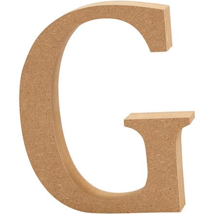 Bogstav højde 8 cm tykkelse 1,5 cm MDF | G