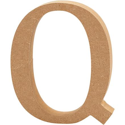 Bogstav Højde 8 cm tykkelse 1,5 cm MDF | Q
