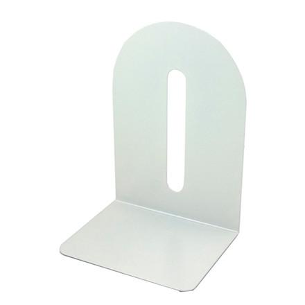 Bogstøtte hvid metal 15 cm - 1 stk.