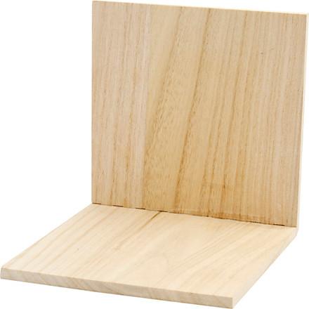 Bogstøtte træ - 15 x 15 x 15 cm