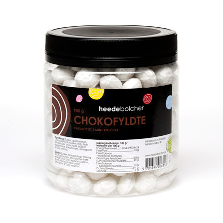 Bolcher chokoladefyldte - Heede Bolcher - 900 gram i en pakke