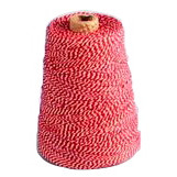 Bomuldsgarn rød og hvid nr 1800 - 225 g 1,1 mm 350 meter pr spole