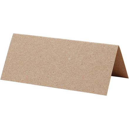 Bordkort, natur, str. 9x4 cm, 220 g, 10stk.