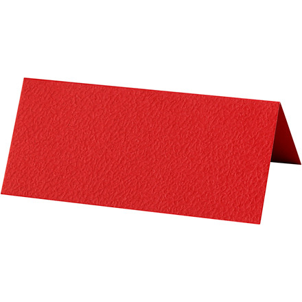 Bordkort, rød, str. 9x4 cm, 220 g, 10stk.