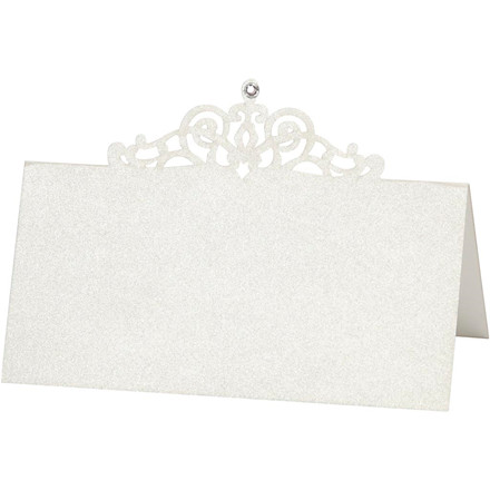 Bordkort, str. 10,7x5,4 cm, 230 g, råhvid, 10stk.