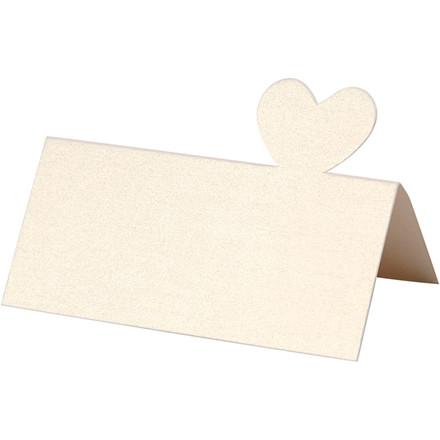 Bordkort, str. 85x80 mm, 120 g, råhvid, 20stk.
