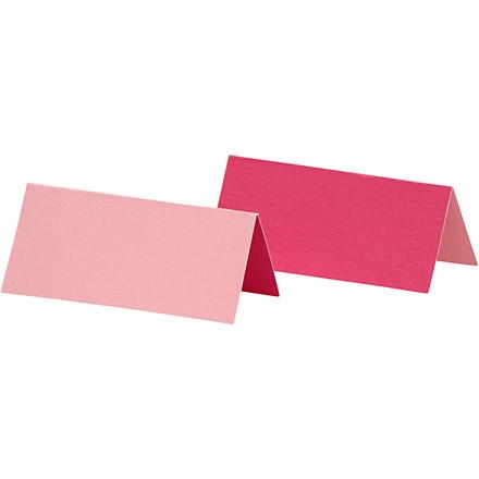 Bordkort størrelse 9 x 4 cm 250 gram rosa/pink - 25 stk.