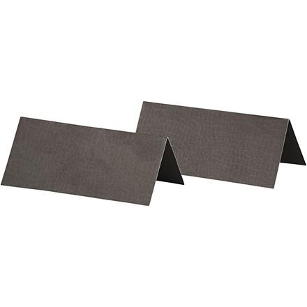 Bordkort størrelse 9 x 4 cm 250 gram sort - 25 stk.