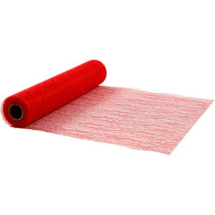 Bordløber Bredde 30 cm rød net | 10 meter