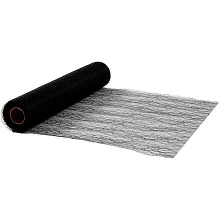 Bordløber sort bredde 30 cm net - 10 meter