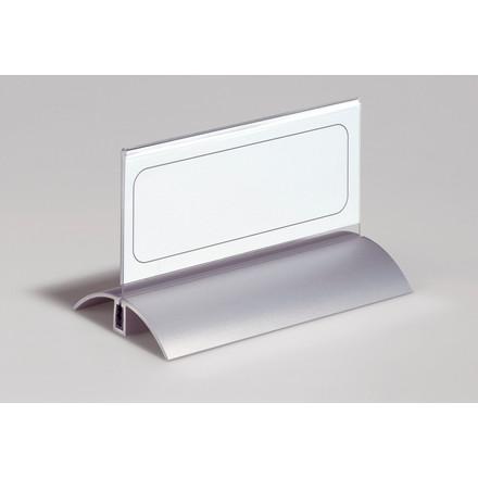 Bordskilteholder - de luxe 8201 61 x 150 mm alu akryl 2 stk.