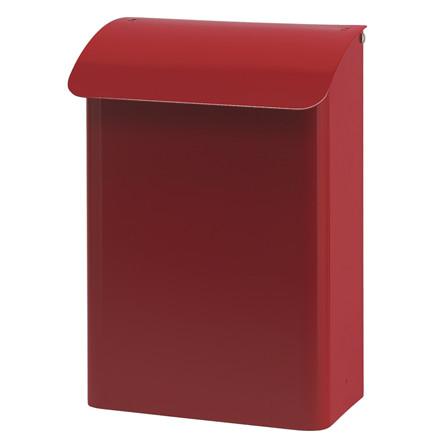 Brandsikret postkasse, V-part, klar til vægmontering, rød,