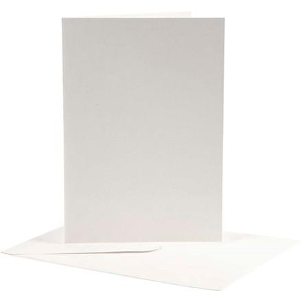 Brevkort kort størrelse 12,5 x 17,5 cm kuvert størrelse 14 x 19 cm off-white - 10 sæt
