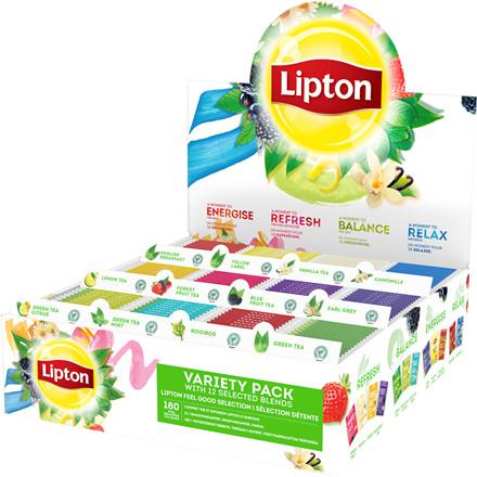 Brevte, Lipton Top 12, assorteret i breve á 12x15 stk.