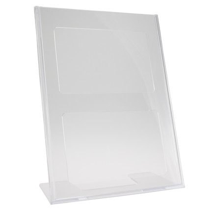 Brochuredisplay BNT A4 klar L-form t/bord 210x297mm