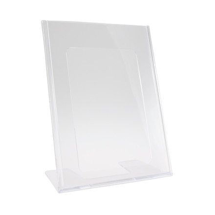 Brochuredisplay BNT A5 klar L-form t/bord 148x210mm