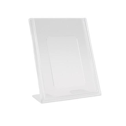 Brochuredisplay BNT A7 klar L-form t/bord 74x105mm