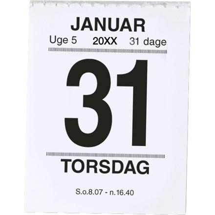 Broderikalender m/split & bagsidetekst 5x6,4cm 20 2410 00