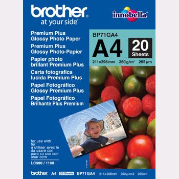 Brother - A4 Glossy inkjet papir 260 gram - 20 ark