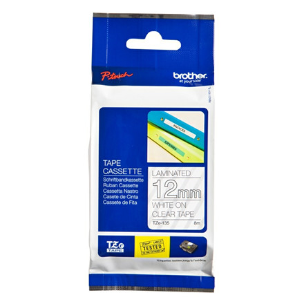 Brother TZe tape 12mmx8m white/clear