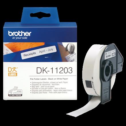 Brother DK-11203 - Arkivmappelabels 17 x 87 mm - Rulle med 300 stk