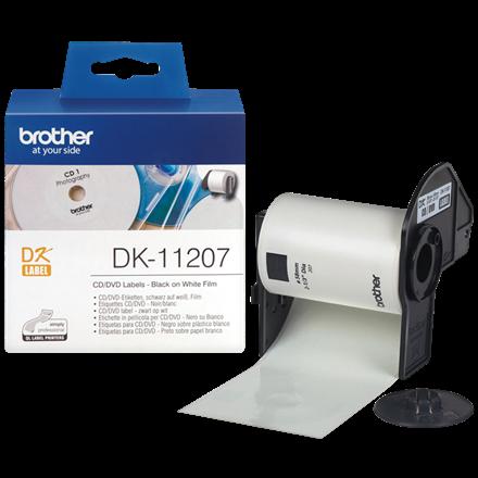 Brother DK-11207 - CD/DVD labels Ø: 58 mm - Rulle med 100 labels
