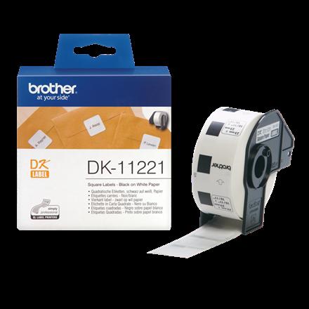 Brother DK-11221 - Firkantet papirlabel 23 x 23 mm - 1000 stk
