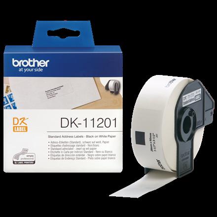 Brother DK11201 - Adresselabel hvid 29 x 90 mm - 400 stk