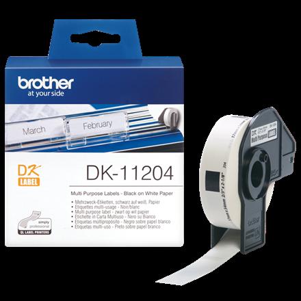 Brother DK11204  - Multilabel hvid 17 x 54 mm  - 400 stk