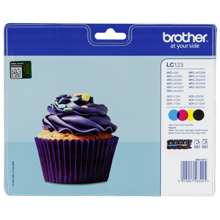 Brother LC123 ink cartridge value packblistered