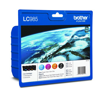 Brother LC985V value pack ink cartridge b/c/m/y blister