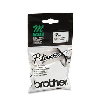 Brother M-K2310 - tape 12 mm sort på hvid