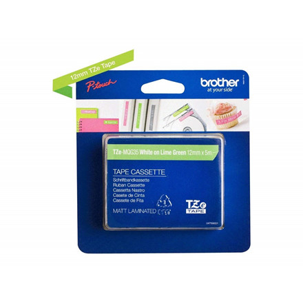 Brother TZe tape 12mmx5m white/Lime green