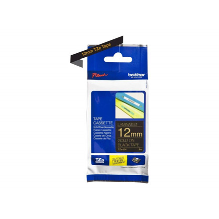 Brother TZe tape 12mmx8m gold/black