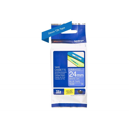 Brother TZe tape 24mmx8m white/blue