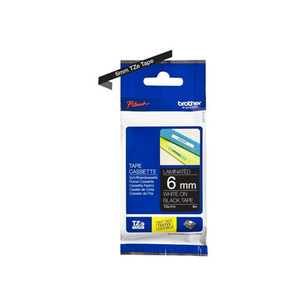 Brother TZe tape 6mmx8m white/black