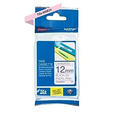 Brother TZeM tape 12mm x 4m pink