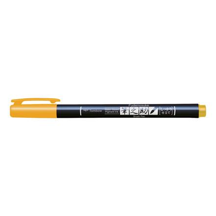 Brush pen Tombow Fudenosuke hård gul