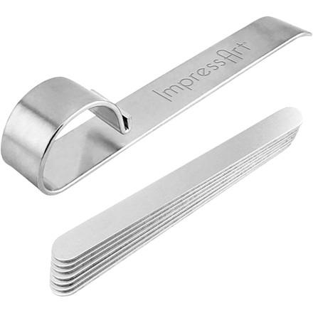 Bukkeværktøj og metalbånd til armbånd, L: 15 cm, B: 10 mm, aluminium, 1sæt