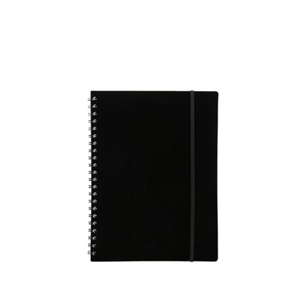 Büngers Notesbog i plast med spiralryg A5, sort