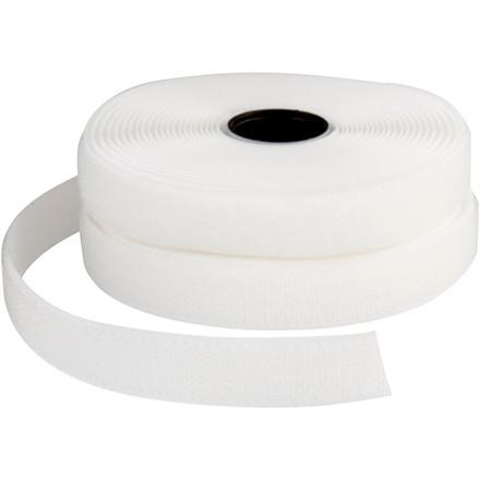 Velcrobånd hvid bredde 2 cm - 5 meter