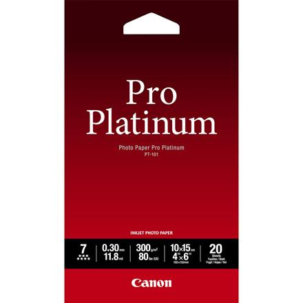 Canon - 10x15 cm 300 gram PT-101 Photo Papir Pro Platinum 20 ark