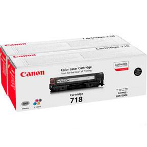 Canon 718BK black toner cartridge 2-pak